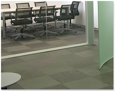 An Office Hallyway with Commercial Carpet